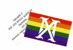 MADAME X  -  USA PROMO RAINBOW STICKER